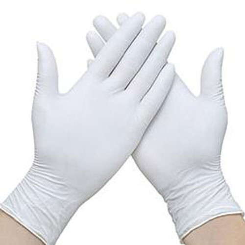 Nitrile Examination Gloves Powder Free (Box of 100 gloves, White) Extra-Small