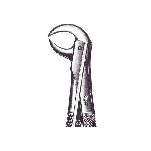 Extracting Forceps (English pattern) #86A, Lower molars with decayed or broken down crowns