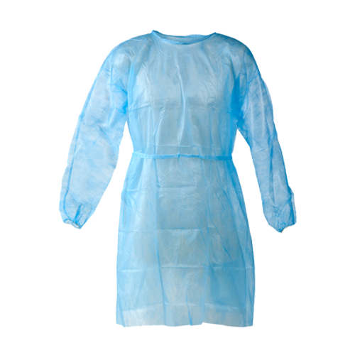 Disposable isolation gowns. Pack of 10pcs blue