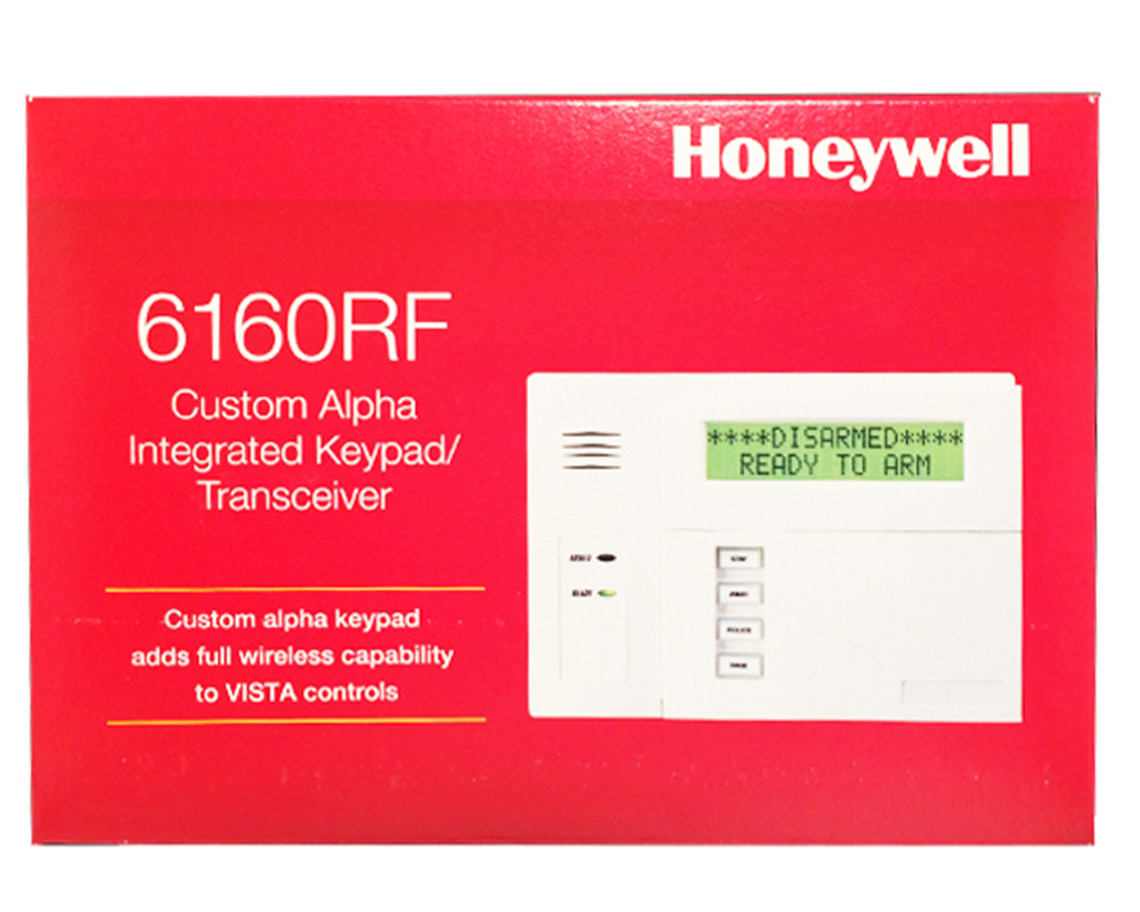 Honeywell 6160RF Custom Alpha Integrated Keypad/Transceiver