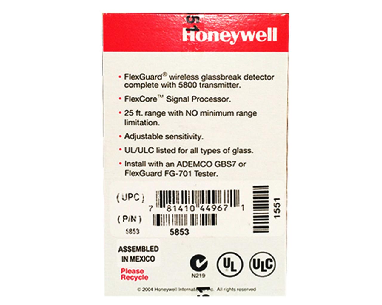 Honeywell 5853 Wireless Glass Break Sensor