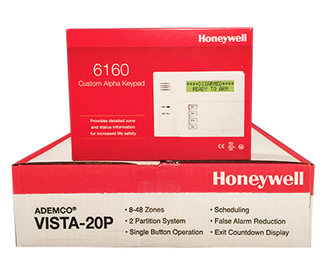 Honeywell Vista 20P and 6160 Keypad Package