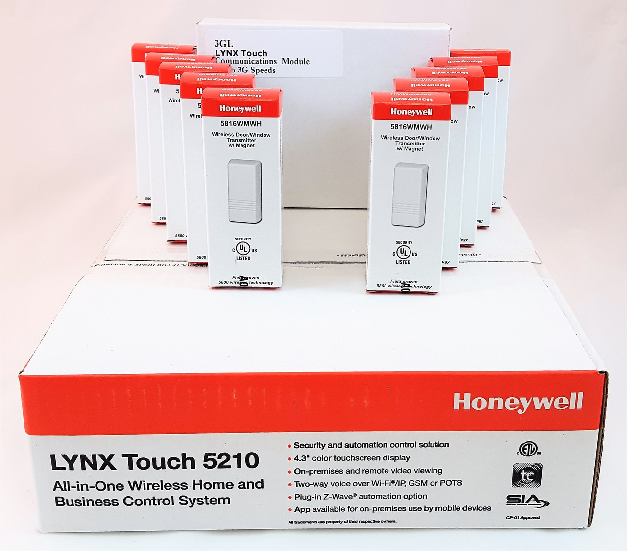 Honeywell Lynx Touch 5210 with (10) 5816WMWH and an LTE Communicator