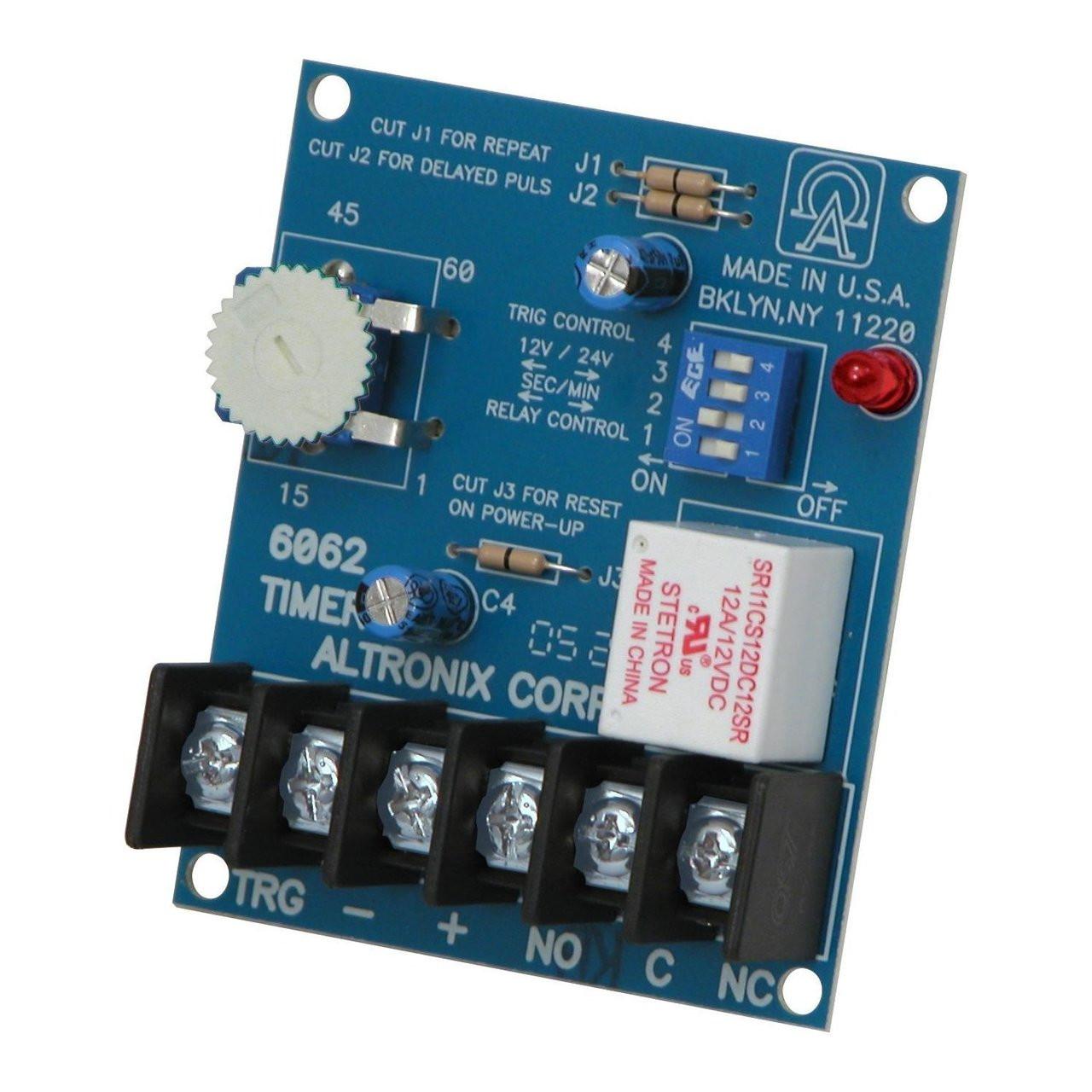 Altronix 6062 Multi-Function Timer - 12VDC or 24VDC