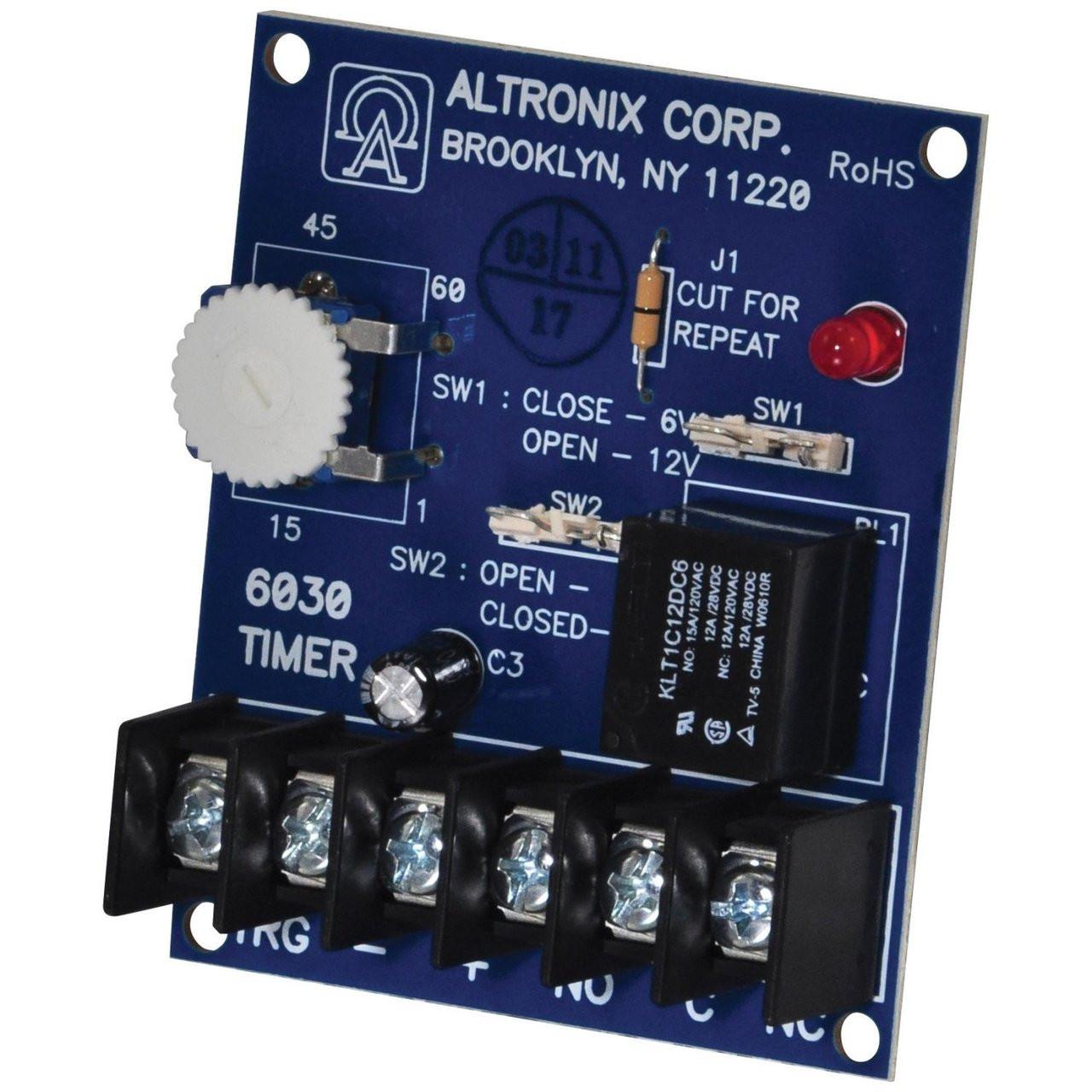 Altronix 6030 Timer Bell Cut Off Amplifier
