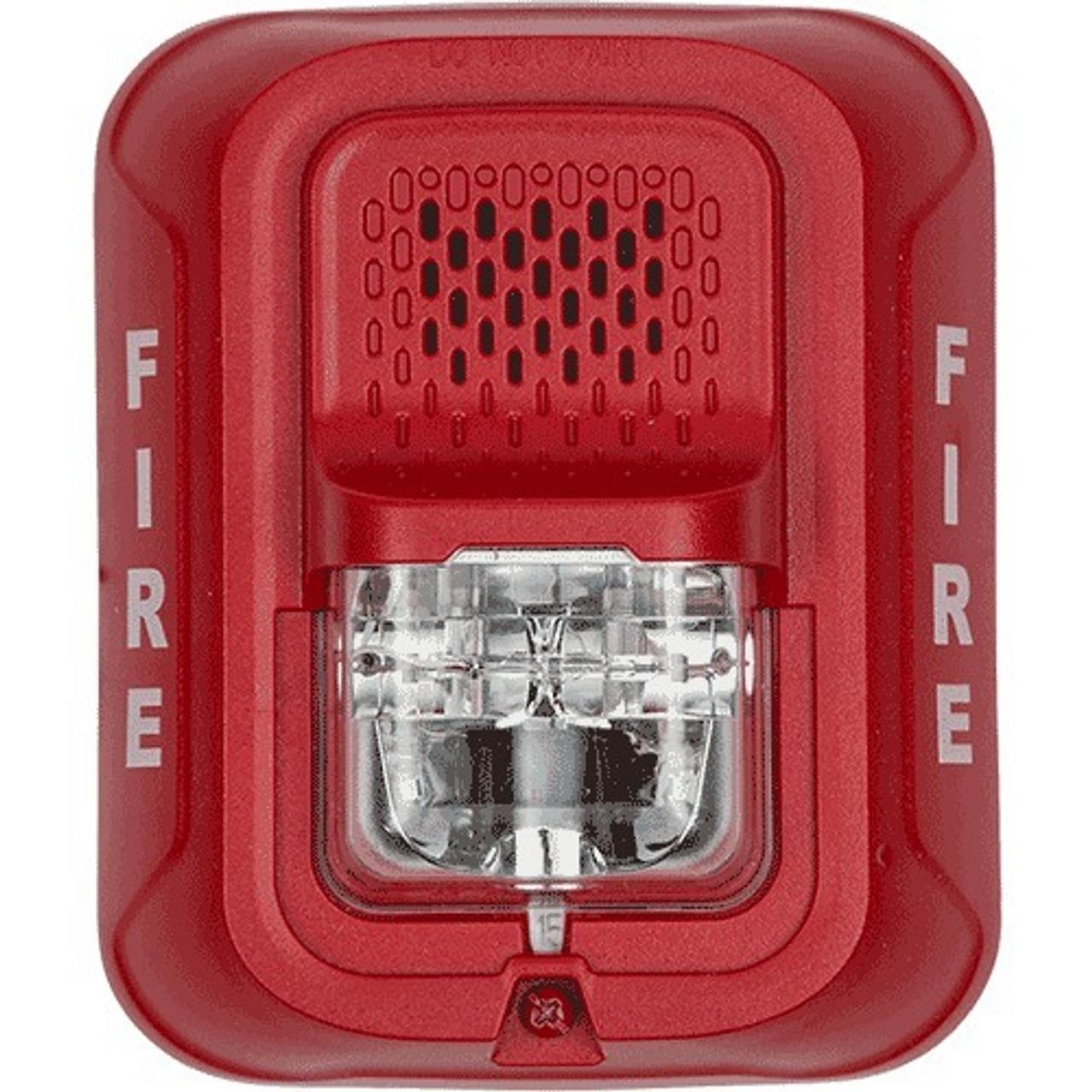 System Sensor P2RL 2 Wire Wall Siren/Strobe, Red