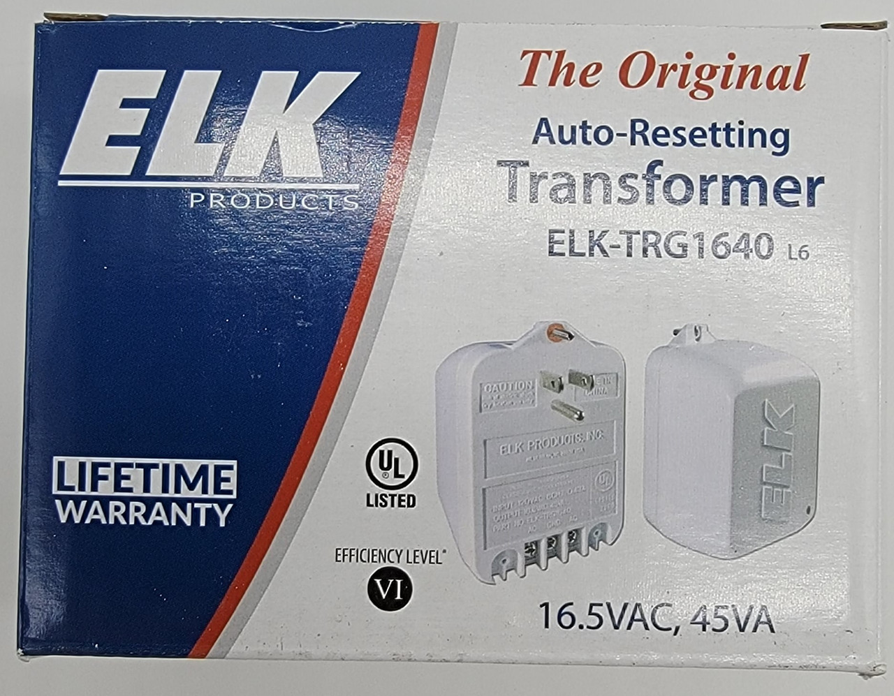 ELK Auto-Resetting 16.5VAC 45VA Transformer ELK-TRG1640