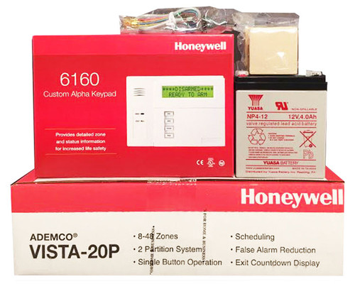 Honeywell Vista 20P, 6160, Battery, Siren, RJ31X Jack and Cord