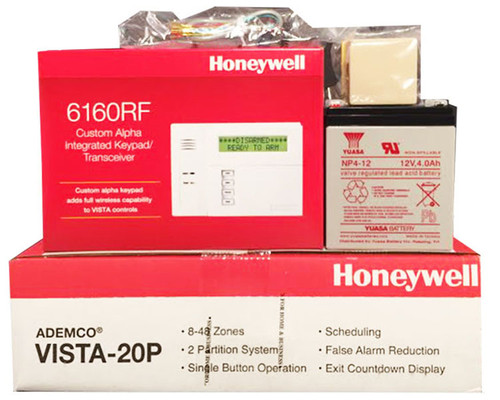 Honeywell Vista 20P, 6160RF, Battery, Siren, RJ31X Jack and Cord