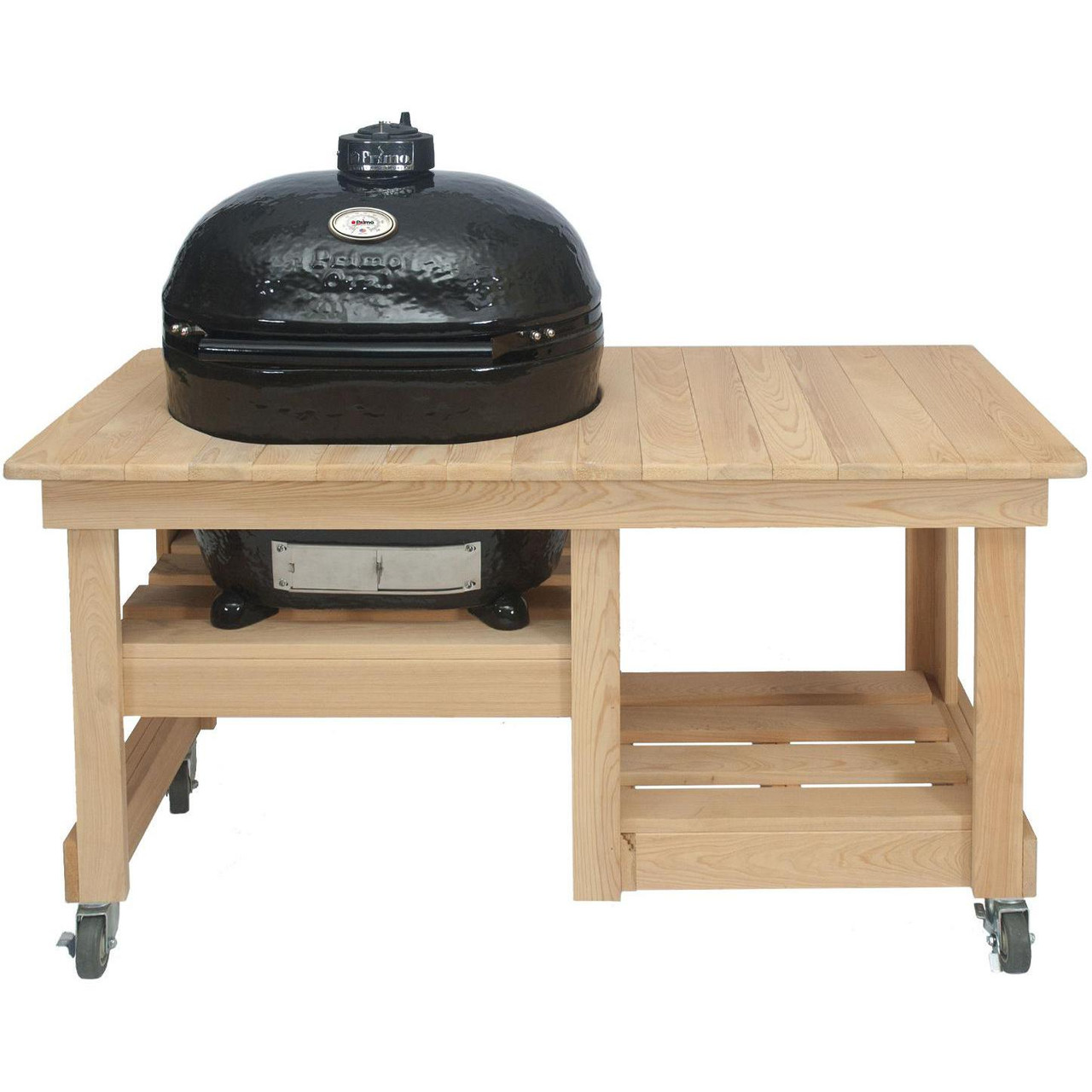 Primo Grill Oval XL 400 with Cypress Counter Top Table - Ozone ...