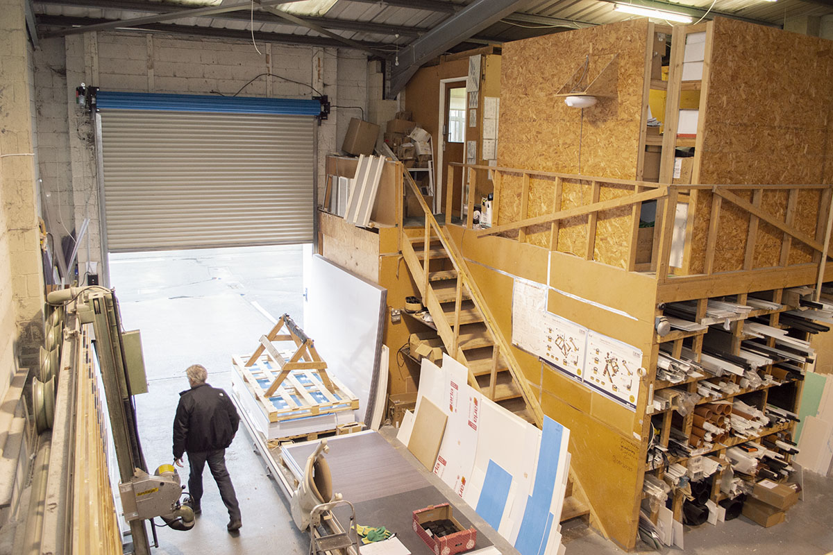 Birds Eye View of the Warehouse & Workshop