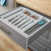 madesmart 8 Compartment Expandable Cutlery Tray - White