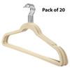 Howards Flocked Hanger with Bar 20 Pack - Cream