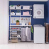 elfa Custom Laundry Solution with Pegboard, Drawers and Mesh Storage Bag