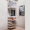 elfa Custom Ladies Shoe & Boot Bar Solution - White