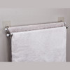 White Magic i-Hook Double Towel Rail 70cm - Stainless Steel