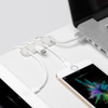BlueLounge Cabledrop Multi - White