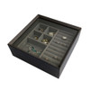 Stackable Jewellery Organiser Multi-Compartment - Brown Timber