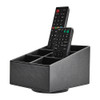 Remote Control Caddy 6 Compartment with Swivel Base - Black