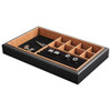 Stackable Jewellery Organiser Tray 10 Compartment - Black