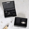 Stackers For Him Mini Watch Box with 2 Layers - Black