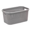 Howards Rectangular Plastic 28L Laundry Basket - Grey Rattan