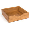 Howards Bamboo Stackable Drawer Organiser - 22 x 22 x 6.4cm