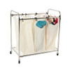 Howards Large Laundry Trolley Cart - 3 Dividers