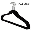 Howards Flocked Hanger with Bar 20 Pack - Black