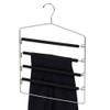 Howards Foam 4 Tier Lockable Trouser Hanger - Black