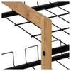 Howards 4 Tier Bamboo Shoe Rack - Black