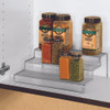 Seville Stacking 3-Tier Cabinet Pantry Spice Shelf - Silver Mesh