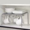 Seville Cabinet Shelf and Mug Holder - Silver Mesh