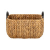 Howards Water Hyacinth Rectangular Basket with Metal Handle - Small