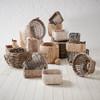 Howards Water Hyacinth Rectangular Basket with Metal Handle - Medium