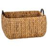Howards Water Hyacinth Rectangular Basket with Metal Handle - Large
