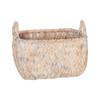 Howards Woven Rectangular Basket Small - White Wash