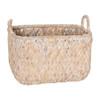Howards Woven Rectangular Basket Medium - White Wash