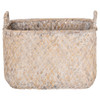 Howards Woven Rectangular Basket Large - White Wash