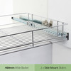 Tansel Pull Out Side Mount Wire Basket Kit for Internal Cabinet Width 467-470mm