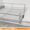 Tansel Pull Out Bottom Mount Wire Basket Kit for Internal Width Area +229mm