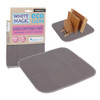 White Magic Eco Cloth Dish Drying Mat - Charcoal