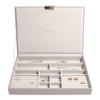 Stackers Supersize Jewellery Box with Lid - Taupe