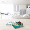 Russbe Inner Seal Bento Lunch Box 3 Compartment 1.6L - Teal