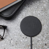 Moon Wireless Charging Pad - Black Leather