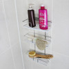 White Magic Stainless Steel i-Hook Shower Caddy