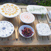 halo Dish Covers Large Set of 3 - Edible Flowers