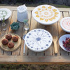 halo Dish Covers Small Set of 3 - Edible Flowers