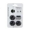 BlueLounge XL CableDrop Cable Holder Set of 3 - Black