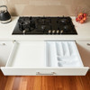 Howards 6 Compartment Cutlery Tray 43cm - White
